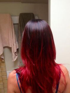 my new red ombre hair