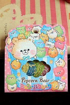Japanese Cute Seal Flakes - Popcorn Bear