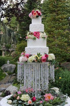 wedding cake, glam cake, utah weddings, cake ideas,