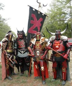 Khorne Warriors. From left to right: MJ Jones, Carlos Trochez, Alexander Bond and Nathan Wilcox