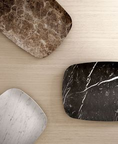 objects designed by designer Jean Louis Iratzoki for the French marble company Retegui