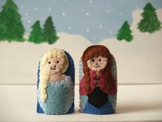 Frozen Finger Puppet Set- Anna and Elsa