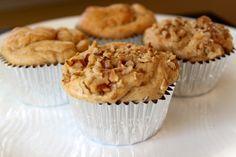 4 Ingredient Power Muffins with Kodiak Power Cakes Mix Kodiak Cake Muffins, Kodiak Pancakes, Kodak Cakes, Kodiak Power Cakes, Pancakes And Waffles, Power Muffins, High Protein Muffins, Protein Cake, Healthy Muffins