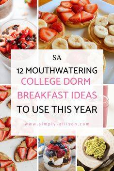 12 Mouthwatering College Breakfast Ideas That Tastes Good Here are 12 mouthwatering college breakfast ideas that you can make in your college dorm. These are easy healthy college breskfast that taste good. Healthy College Snacks, Quick Healthy Snacks, Easy Healthy Breakfast, Clean Eating Snacks, Easy Healthy Recipes, Breakfast Ideas, Easy Meals, College Recipes, Inexpensive Meals
