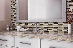 Beautiful Kitchen Backsplash: Peel N' Stick, Peel and Stick, Guaranteed to Stick! Peel N Stick Backsplash, Peel And Stick Tile, Stick On Tiles, Kitchen Backsplash, Resin Material, Modern Colors, Interior Walls, Beautiful Kitchens, Mosaic Tiles