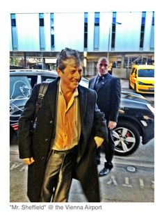 Dancer against Cancer with Charles Shaughnessy at Vienna International Airport, Austria arriving on April 12, 2012