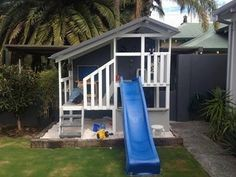 My Cubby. Cubby with slide. #outside play #kids #fun