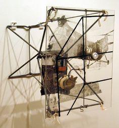 """Robert Rauschenberg, """"Dry Cell,"""" Courtesy of Craig F. Robert Rauschenberg, Contemporary Sculpture, Contemporary Art, Pop Art Movement, Jasper Johns, Neo Dada, A Level Art, Junk Art, Art For Art Sake"""
