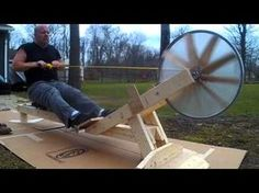 Home built rowing machine - YouTube