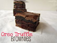 Oreo Truffle Brownies    Ingredients        1 box brownie mix (8x8 pan size) and ingredients called for on box      20 Oreo Cookies      4 ounces cream cheese      1 cup chocolate chips