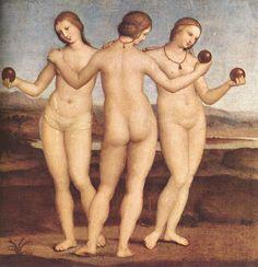 The Three Graces - Raphael, 1504-1505 (Musée Condé, Chantilly, France)
