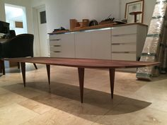 Solid walnut coffee table by BLworkshop on Etsy
