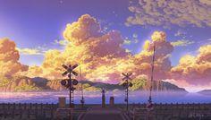 original, scenery, background / summer has come! - pixiv Anime Scenery Wallpaper, Landscape Wallpaper, Wallpaper Backgrounds, Landscape Paintings, Laptop Wallpaper, Anime Landscape, Fantasy Landscape, Aesthetic Backgrounds, Aesthetic Wallpapers