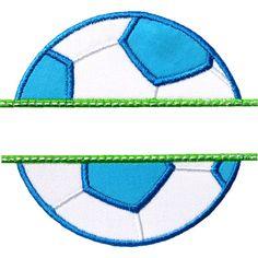 Soccer Name Plate Applique by HappyApplique.com