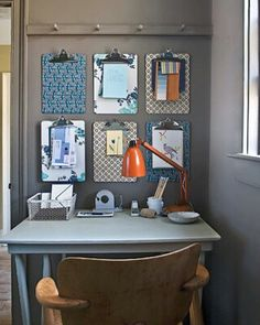 DIY office decor for back to school! Clip boards turned into stylish organizers #office #diy #backtoschool