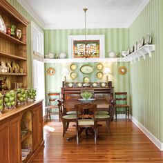 Install a Plate Rail - Stylish Dining Room Decorating Ideas - Southern Living