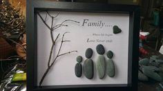 Arte di famiglia Pebble di SDCreations0813 su Etsy