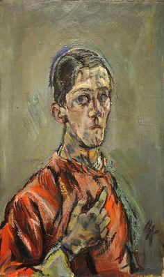 Les Fauves/Expressionisme ~ Oskar Kokoschka ~ Zelfportret ~ 1913 ~ 81 x cm. ~ The Museum of Modern Art, New York Gustav Klimt, Figure Painting, Painting & Drawing, L'art Du Portrait, Figurative Kunst, Art Abstrait, Henri Matisse, Museum Of Modern Art, Rembrandt