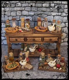 witch potion board ooak 112 miniature by by sorayaminiatures bl 112 dollhouse miniature