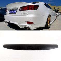 76.49$  Buy now - http://aliufx.worldwells.pw/go.php?t=2054852138 - PU Unpaint Rear Trunk Spoiler Wing ,W Type Auto Car Boot Lips Fit For Lexus IS250 300 350 07-13