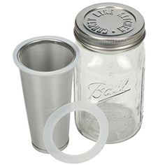 Cold Brew Coffee Maker  1 Quart  Make Amazing Cold Brew Coffee and Tea with This Durable Mason Jar and Stainless Steel Filter and Lid -- Read more reviews of the product by visiting the link on the image.Note:It is affiliate link to Amazon. #HaveTea