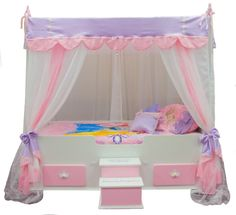 The Ultimate Princess Canopy Bed  sc 1 st  Pinterest & Butterfly Princess Canopy Bed Poster Beds - aBaby.Com | Haute Baby ...