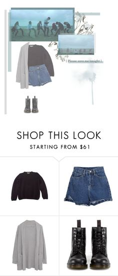 """""""Save me // BTS"""" by rebekahsalvadore ❤ liked on Polyvore featuring Vanessa Bruno, Margaret O'Leary and Dr. Martens"""