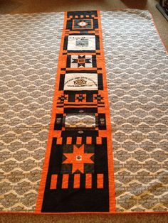 """BACK OF HARLEY DAVIDSON QUILT; TRIBUTE TO """"THE HAMMER"""""""