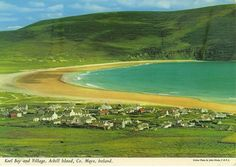 Inch Print - High quality print (other products available) - Keel Bay And Village, Achill Island, County Mayo, Republic of Ireland. Date: - Image supplied by Mary Evans Prints Online - Photo Print made in the USA Island County, Wild Atlantic Way, County Mayo, Bay Village, Republic Of Ireland, Photographic Prints, Online Printing, Scenery, Poster Prints