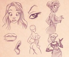 How To Draw Cartoon Women by Carlos Cabral, via Behance