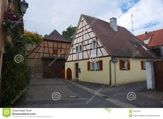 Traditional German Houses | Traditional German House. Typical German architecture in Iphofen ...