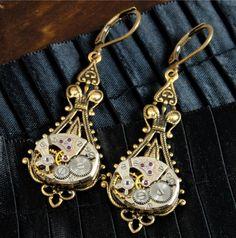 Antique Brass Steampunk Wedding Steampunk Jewelry by Victorian Curiosities