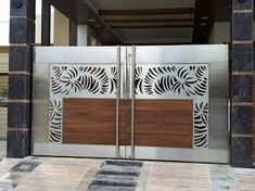 Screen house decor window 68 New Ideas House Main Gates Design, Front Gate Design, Door Gate Design, Gate Designs Modern, Stainless Steel Gate, Steel Gate Design, Grill Door Design, Screen House, Painted Front Doors