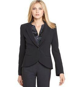 Calvin Klein Petite Jacket, Single Button