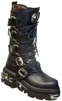 New Rock Goth lace and buckle boots