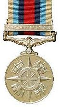 British: Operational Service Medal with Afghanistan clasp.