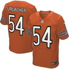 $89.99 Men's Nike Chicago Bears #54 Brian Urlacher Limited Alternate Orange Jersey