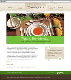 Website design for Eco Leaf Plates. View online at http://www.niyati.sg/web-design/158/small-busines-website