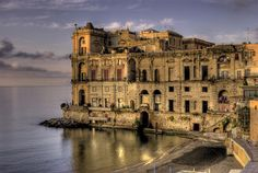 Palazzo Donn'Anna, Naples Italy, HDR at sunrise by alfedena1961, via Flickr