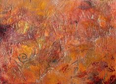 Gilded Orange. Original abstract raw art on special offer at just £25.00, via Etsy. #original #art #abstract #raw #british