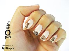 Cat Water Transfer Nail Sticker by JsUtopia on Etsy, $5.00