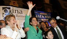 Democrat Gina Raimondo took 40% of the vote to beat Republican Allan Fung, while Moderate Robert Healey received a striking 22% of the vote.