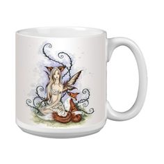 ** A special product just for you. See it now!: Tree-Free Greetings Amy Brown Artful Jumbo Mug, Fantasy Wild Companions Fox and Fairy at Coffee and Stuff. Glass Coffee Cups, Coffee Mugs, Amy Brown, Fairy Tree, Coffee Health Benefits, Easter Brunch, Gifts For Friends, Cool Things To Buy, Fox