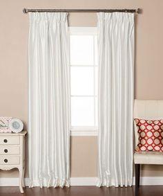 Ivory Dupioni Pinch Pleat Blackout Curtain Panel