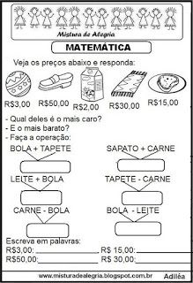 Matemática Nova, Neymar, Matter Activities, Money Activities, Math Worksheets, Dyscalculia, Dyslexia, Kids Learning
