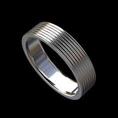 Platinum 950 Mens Eternity Wedding Band by OroSpot on Etsy, $1399.00