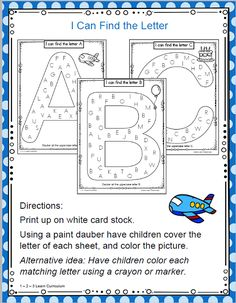 I have added I Can Find the Letter - Worksheets to 1 - 2 - 3 Learn Curriculum. These are located under the Alphabet link. Bottom of the page. Please click on picture to learn how to become a member and access free downloads. Thank you! Jean 1 - 2 - 3 Learn Curriculum
