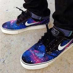 "@Cindy St. Clair News's photo: ""Thoughts on this Galaxy Nike SB Janoskis by @biggie_sb? More photos in the Customs category on sneakernews.com"""