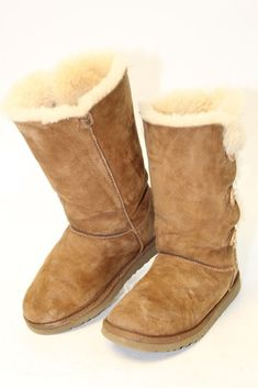 05c9ec8062f ANNIEL Leather Winter Boots Size 10-10.5 UK 28-29 Faux Fur Made in ...