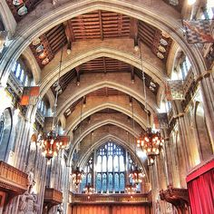 Interior of the City of London's Guildhall